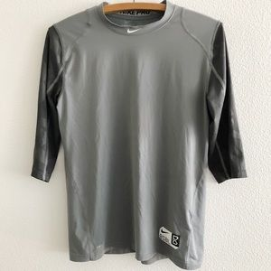 Nike Pro Baseball Fitted Base Layer Top Boys XL